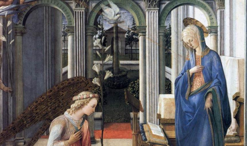 L'Annonciation (v. 1443), détail