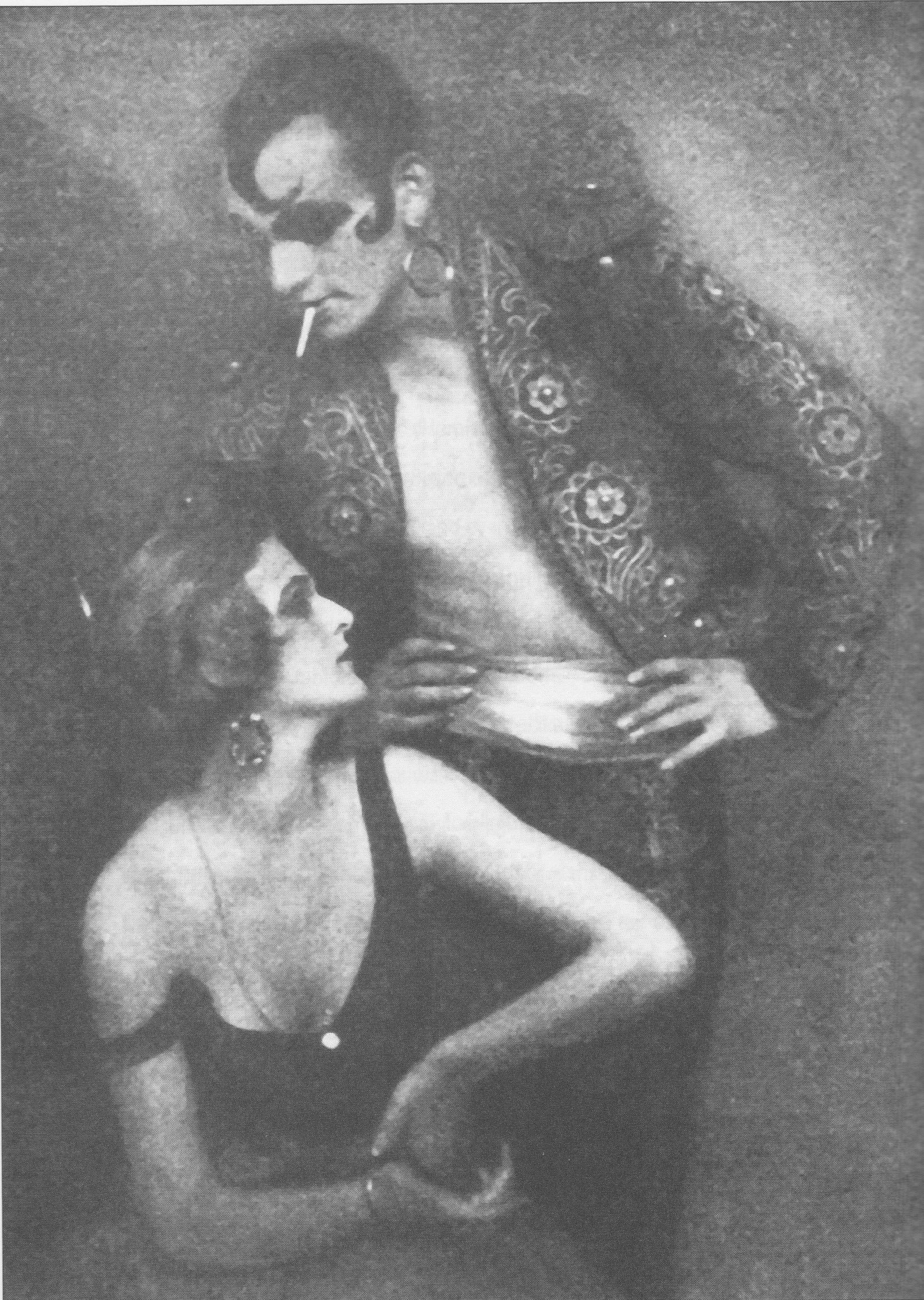 Anita Berber & Sebastian Droste dans Morphine, Atelier Eberth, 1922.