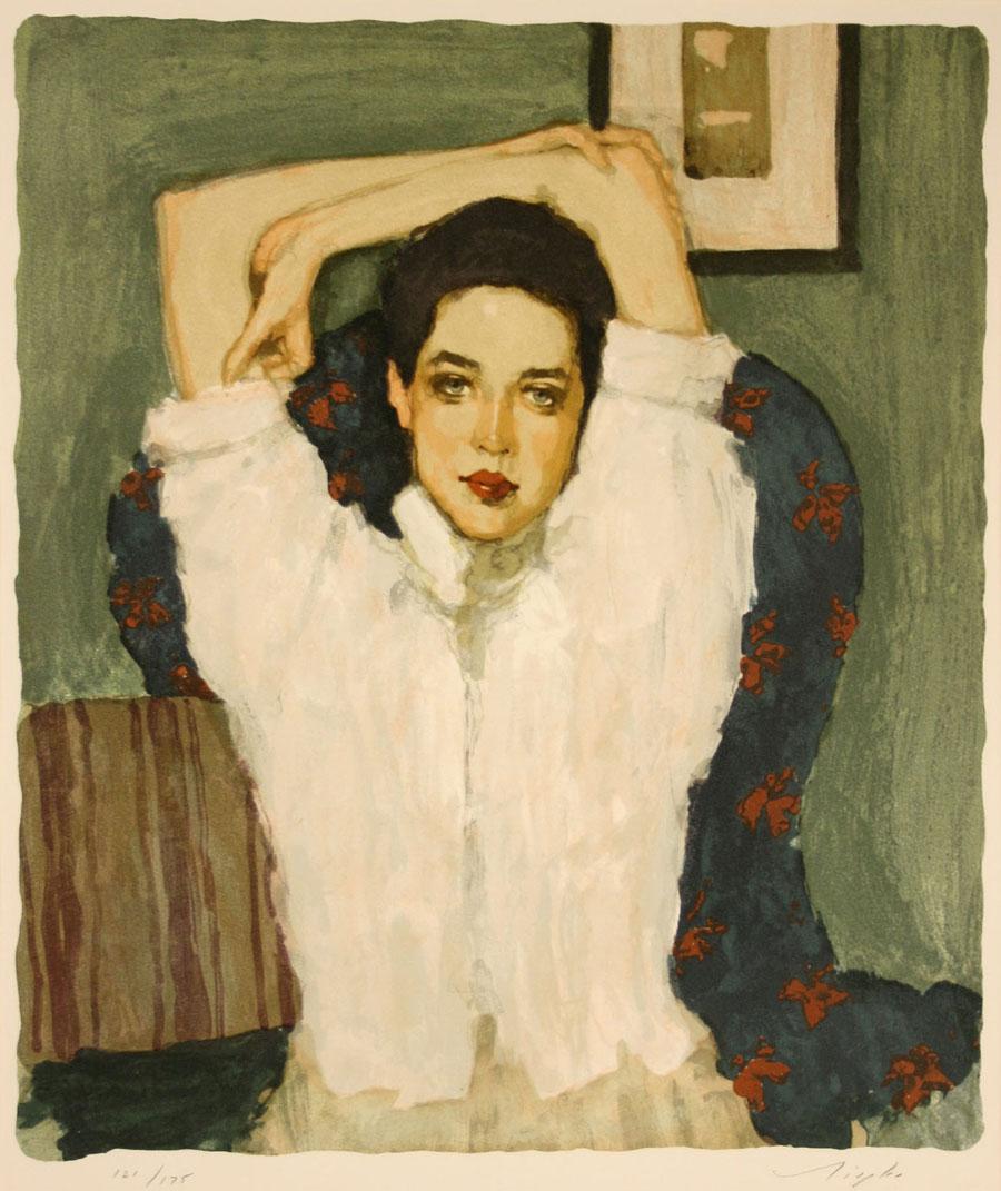 Brunette Girl, par Malcolm T. Liepke (1953), couverture de l'édition portugaise d'Ada ou l'Ardeur