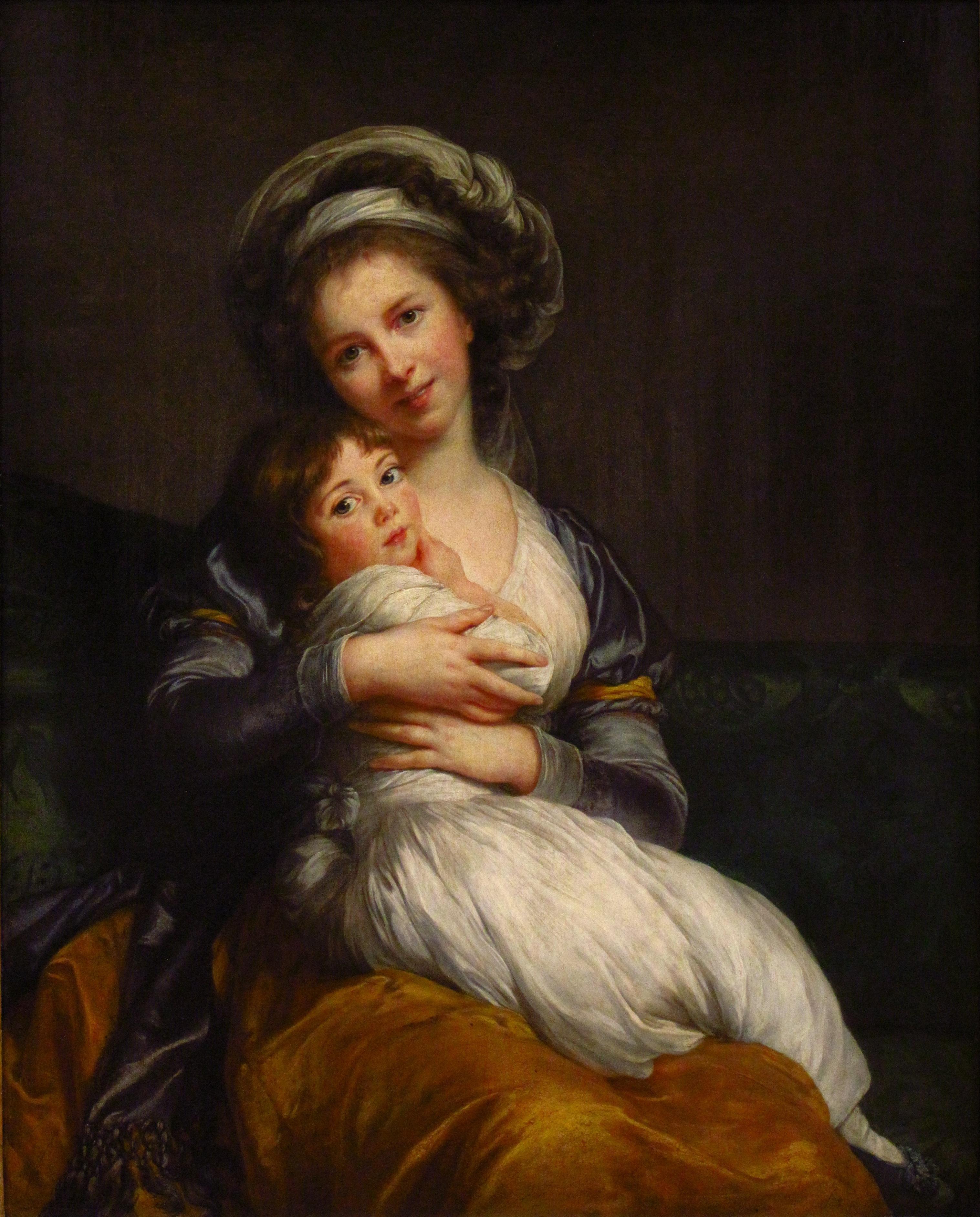 Madame Vigée Le Brun et sa fille, par Élisabeth Vigée Le Brun (1786)