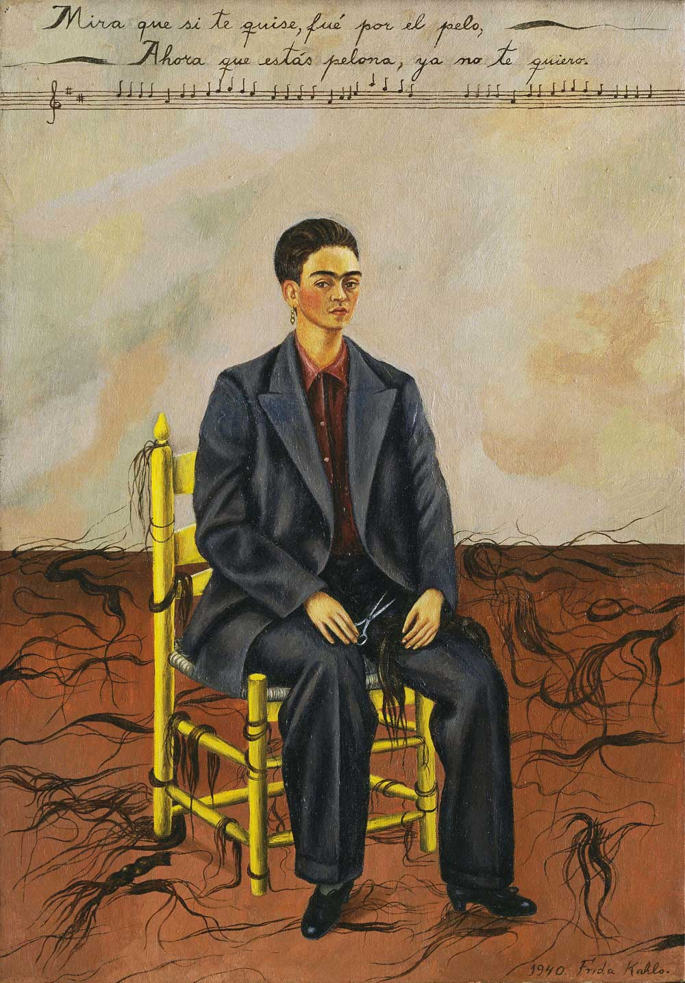 Frida Kahlo, Self-portrait with cropped hair, 1940, Museum of Modern Art, New York ©