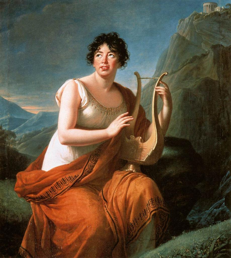 Madame de Staël en Corinne au cap Misène, par Élisabeth Vigée Le Brun, Musée d'Art et d'Histoire, Genève (1809)