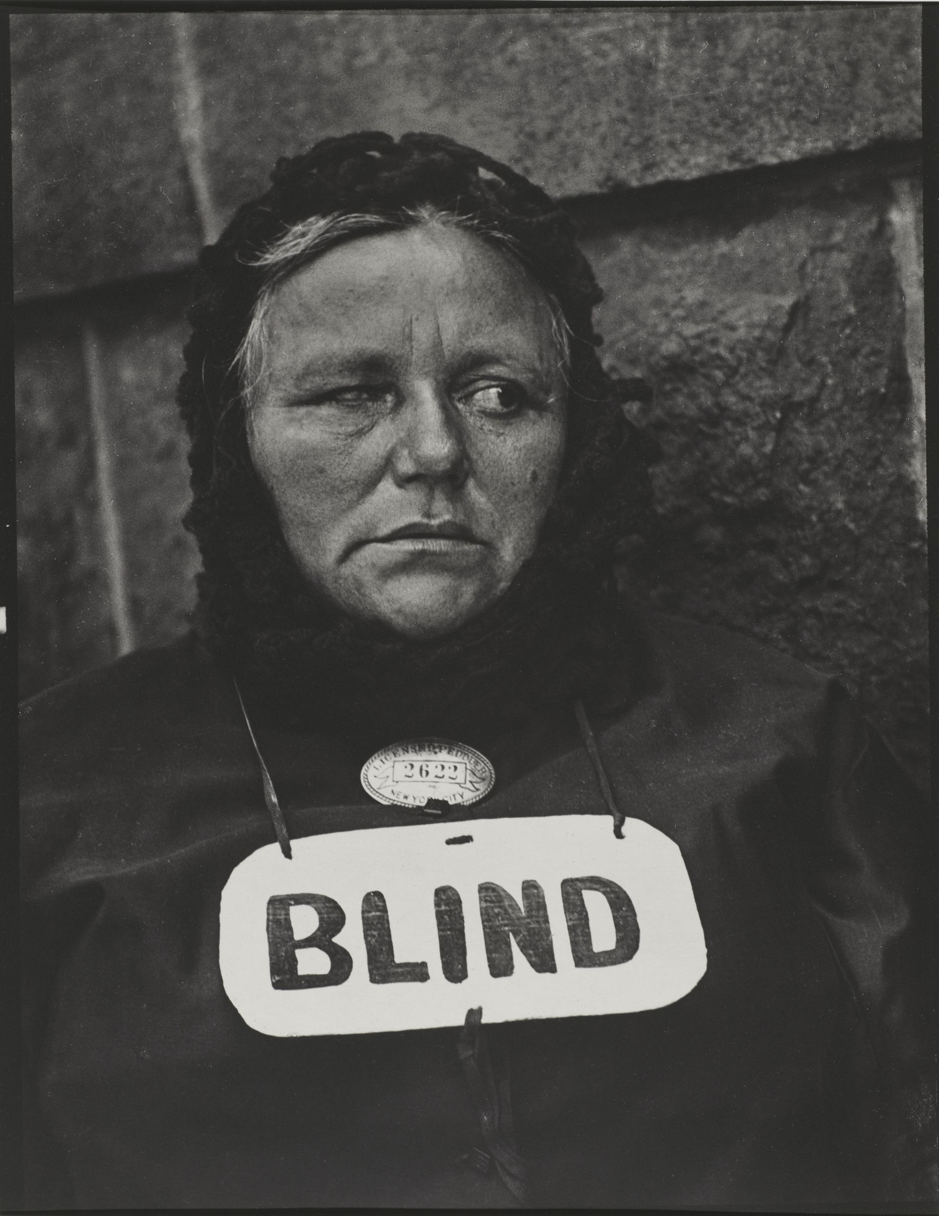 Blind Woman, New York, par Paul Strand © (1916)