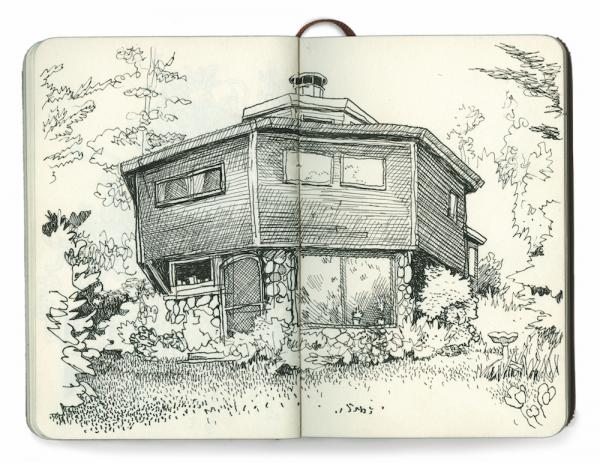 La maison de son père, Carnet de croquis d'Anders Nilsen ©