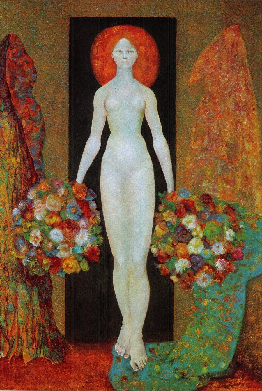 Heliodora, par Leonor Fini, lithographie, 1964