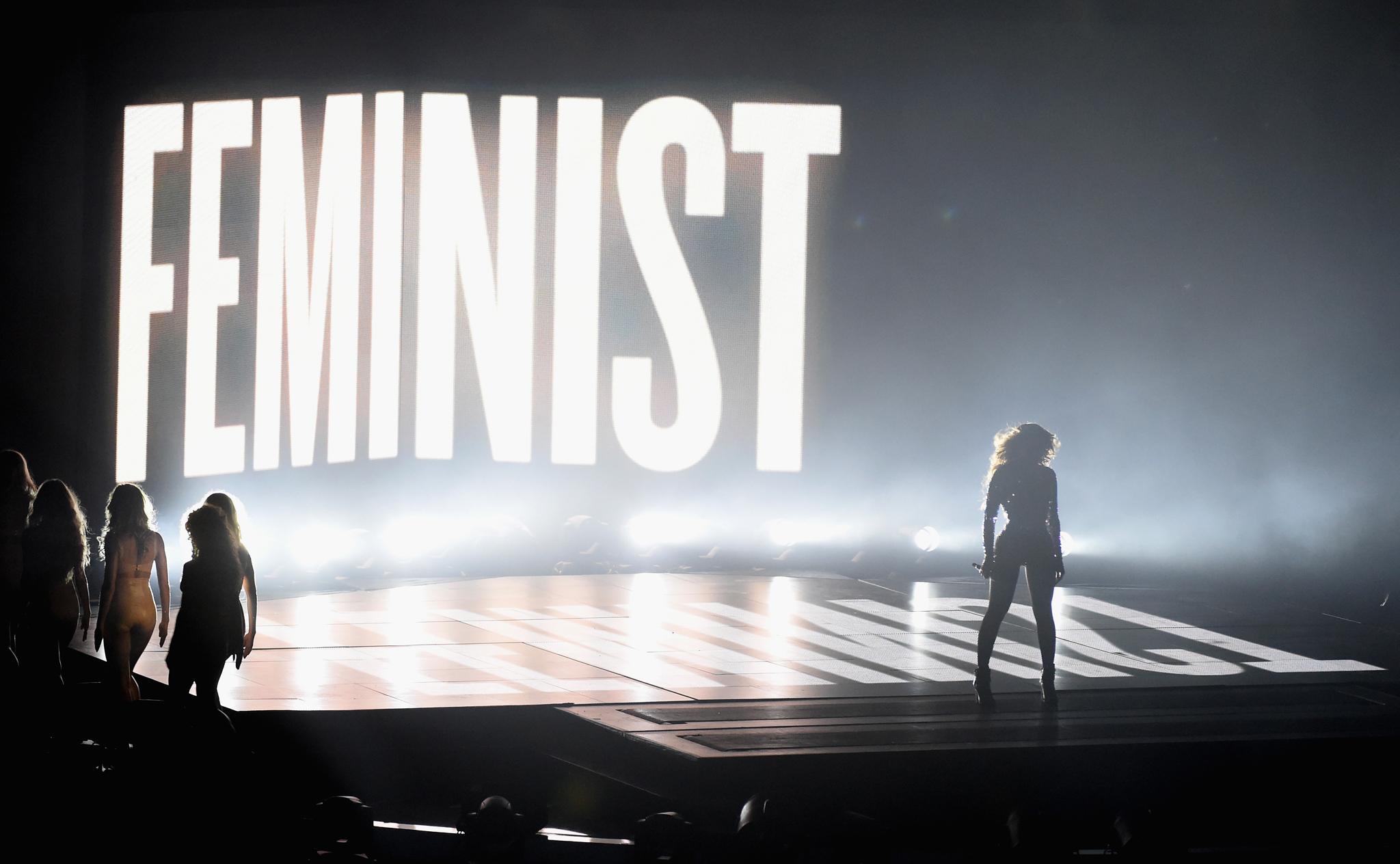 Beyoncé lors des Video Music Awards de MTV (2014) © Michael Buckner