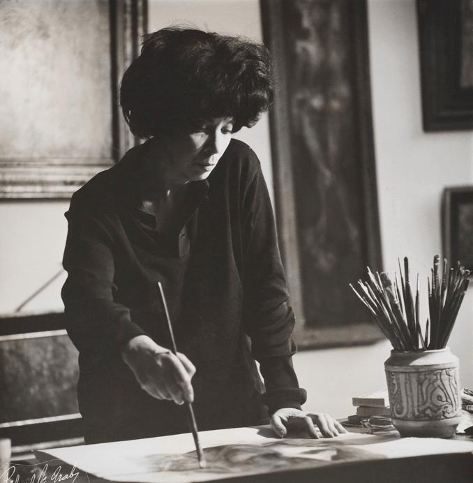 Leonor Fini, photographiée par Roger Vadim, 1955 ©
