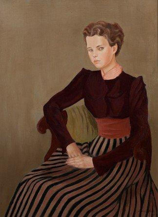 Portrait de Gogo Schiaparelli par Leonor Fini, huile sur toile, 1936
