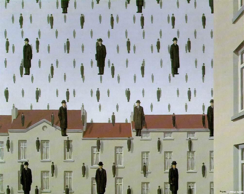 René Magritte, Golconda, © 1953