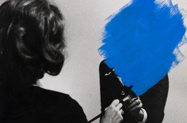 Helena Almeida, Inhabited Painting, 1975, Acrylic on photograph, 46 x 50 cm, Museum of Contemporary Art, Porto