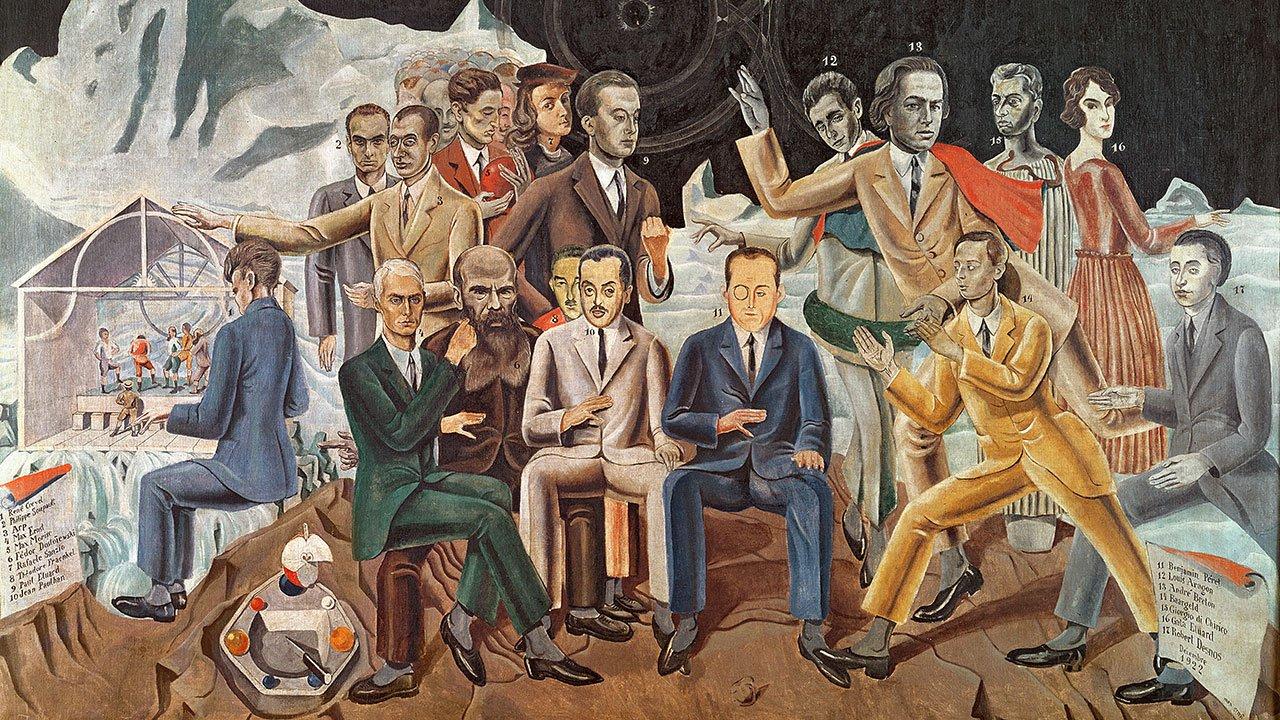 Au rendez-vous des amis, de Max Ernst, 1922 © Wallraf-Richartz Museum, Cologne.