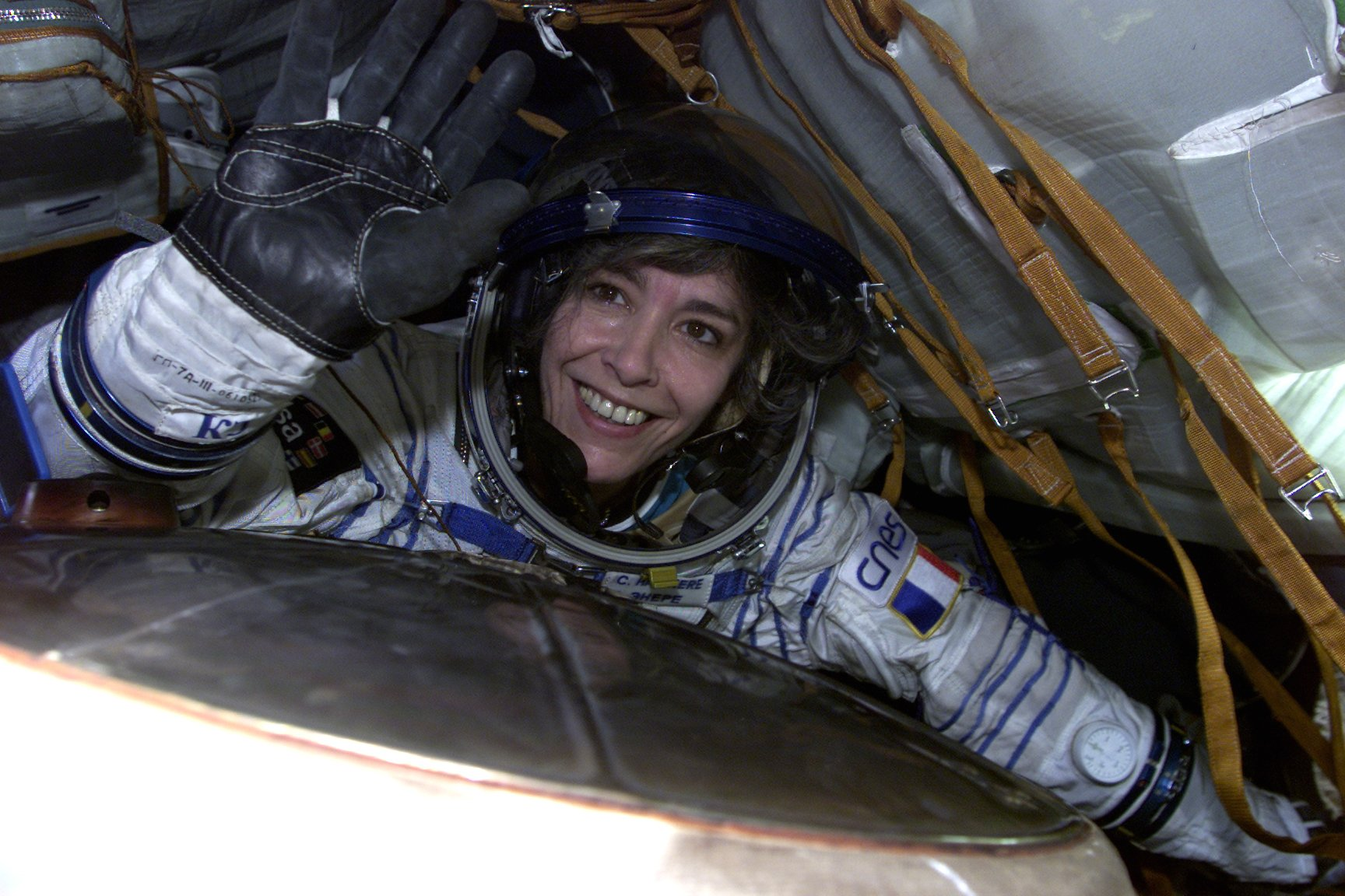 Claudie Haigneré à bord de la Station spatiale internationale (ISS), 2001