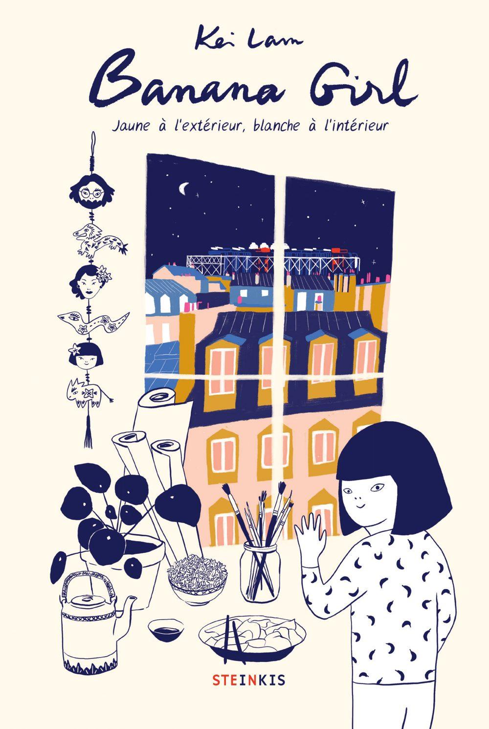 Banana Girl : Jaune à l'extérieur, blanche à l'intérieur Couverture du livre